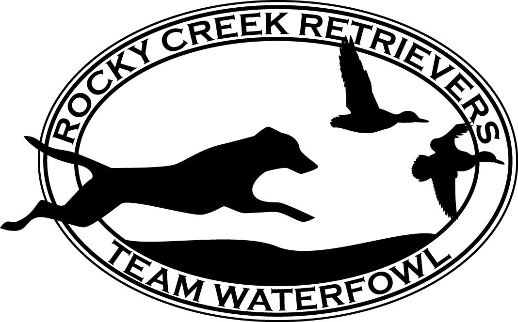 rocky creek retrievers logo team waterfowl