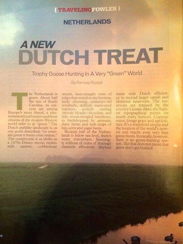 GOOSE HUNT NETHERLANDS