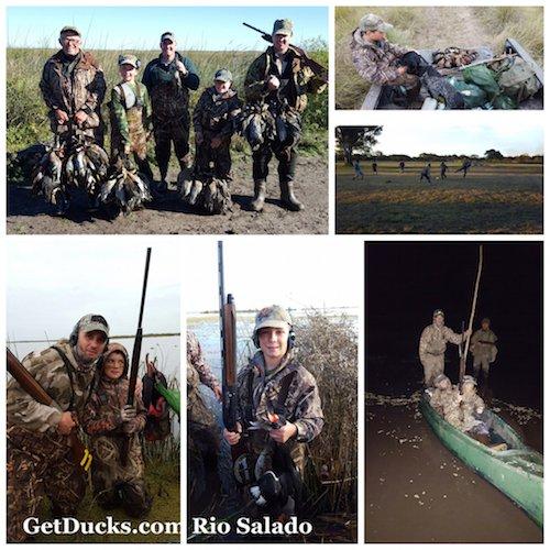 Argentina duck hunting trip at Rio Salado
