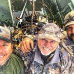 duck hunters at argentina rio salado