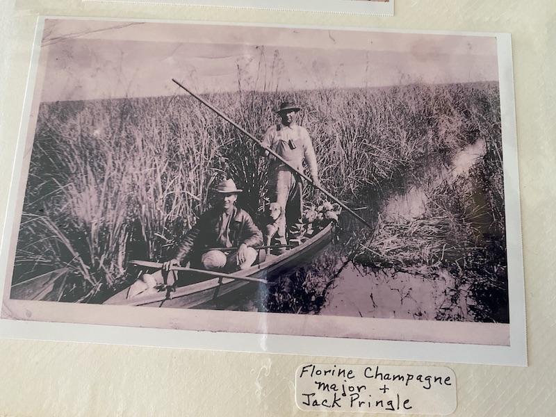 Florine Pie Champagne, Louisiana duck hunting