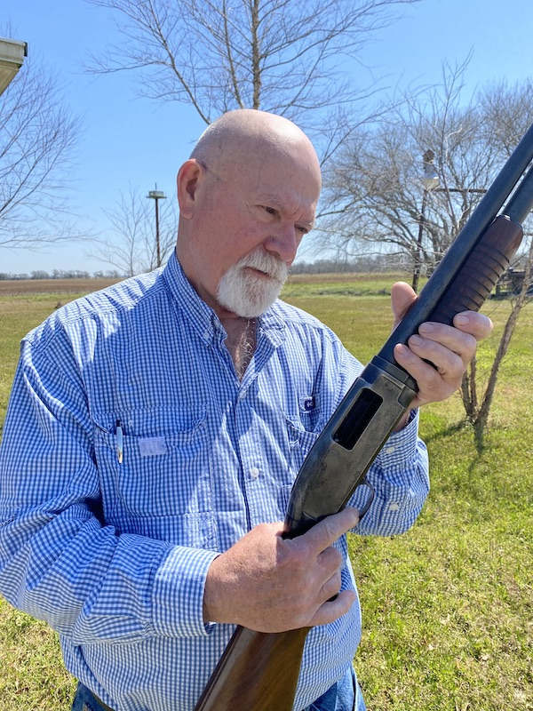 Benny Broussard with Market hunter Shotgun